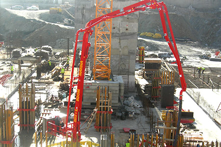 Гидравлические бетонораспределительные стрелы