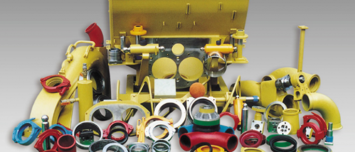 Виды комплектующих и запчастей для бетононасосов